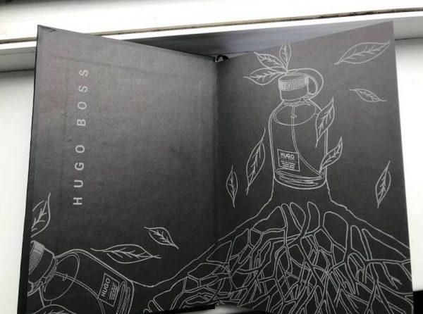 Записная книжка Хуго Босс черная закладка-лента (3)
