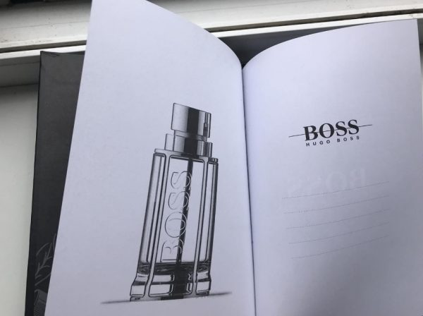 Записная книжка Хуго Босс черная закладка-лента (4)