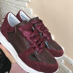 VN Демисезонная женская обувь кроссовки марсала (1)