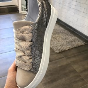 VN Купить женскую обувь в интернет магазине кеды бежевые на широких шнурках