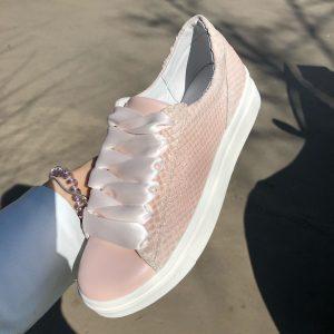 VN Летняя женская обувь кеды кожаные розовые