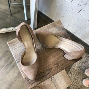 VN Пошив обуви на заказ туфли замшевые телесные