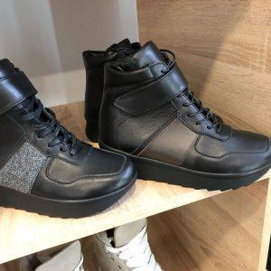 VN Женская обувь кроссовки высокие черные (2)