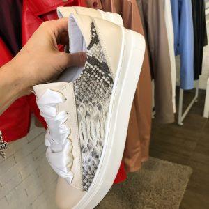 VN Женская обувь осенняя кроссовки из кожи розовые