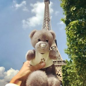 Игрушка из меха норки мишка Тедди светло серый в Париже (2)