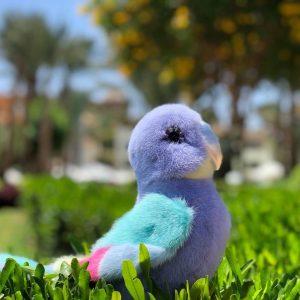 Игрушка из меха норки попугай цветной