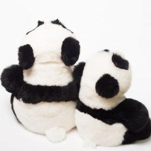 Игрушка из натурального меха панда мама с малышом (2)