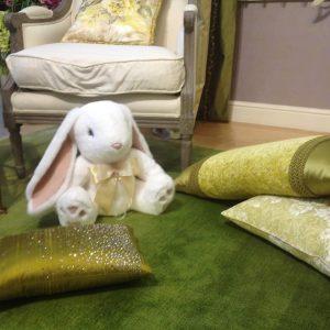 Игрушка из натурального меха зайчик белый (3)