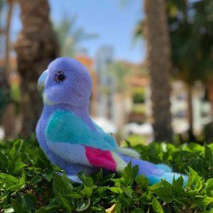 Игрушка из норки попугай лавандовый