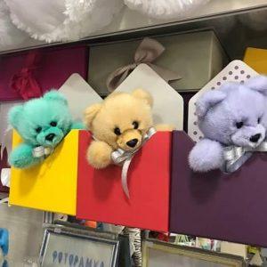 Игрушки из меха ручной работы мишки норковые подарочные