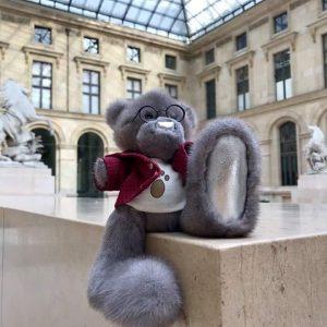 Норковая игрушка мишка Тедди с двигающимися лапками