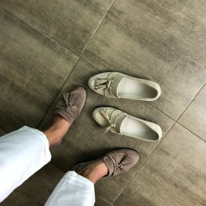 VN Ателье магазин женской обуви лоферы кожаные коричневые мягкие