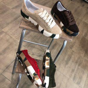 VN Авторская обувь купить кеды из замши темно коричневые подошва хаки (5)