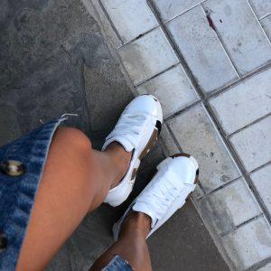VN Авторская обувь купить кеды кожа белая подошва коричневая (8)