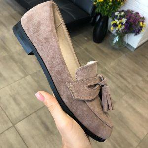 VN Индивидуальный пошив обуви кожаной лоферов коричневых темных
