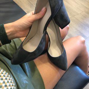 VN Летняя женская обувь туфли замшевые темно-серые