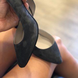 VN Летняя женская обувь туфли замшевые темно серые (4)