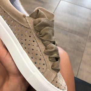 VN Обувь ручной работы натуральная кожа кеды коричневые с подошвой белой (4)