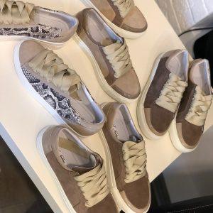 VN Женская обувь осенняя кеды из замши коричневые (2)