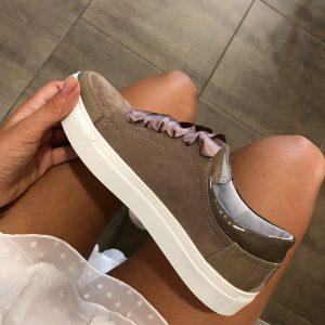 VN Женская обувь осенняя кеды кожаные коричневые темные (2)