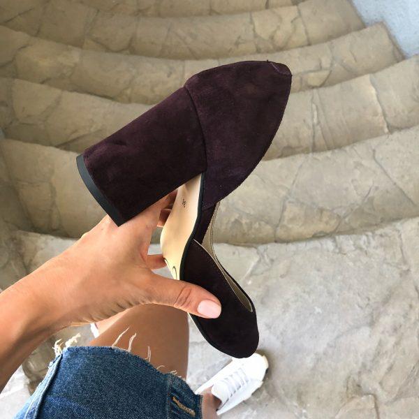 VN Женская обувь ручной работы туфли замшевые марсала (5)