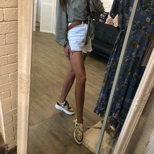 VN Женская обувь весна кроссовки из кожи коричнево белые со сменными шнурками (8)