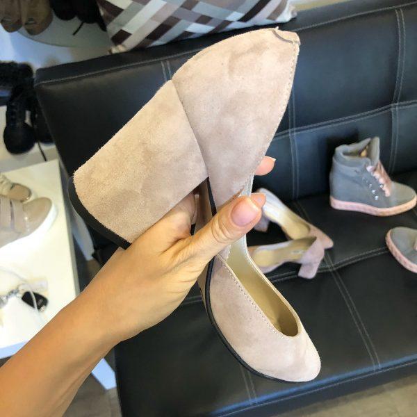 VN Женская обувь весна туфли из замши нежно-розовые (2)