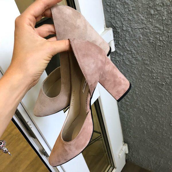 VN Женская обувь весна туфли из замши нежно-розовые (3)