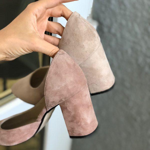 VN Женская обувь весна туфли из замши нежно-розовые (4)