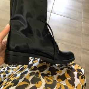 VN Женские ботинки демисезонные кожа черная шнуровка (2)