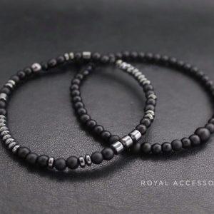 Браслет мужской камень с гематитом «BRUTAL BLACK CLASSIC»