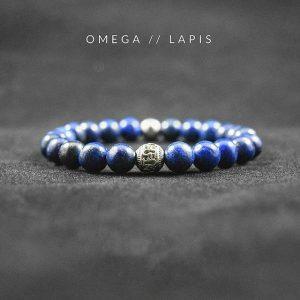 Мужские браслеты  из камней «️Omega | Lapis Blue»️ с лазуритом
