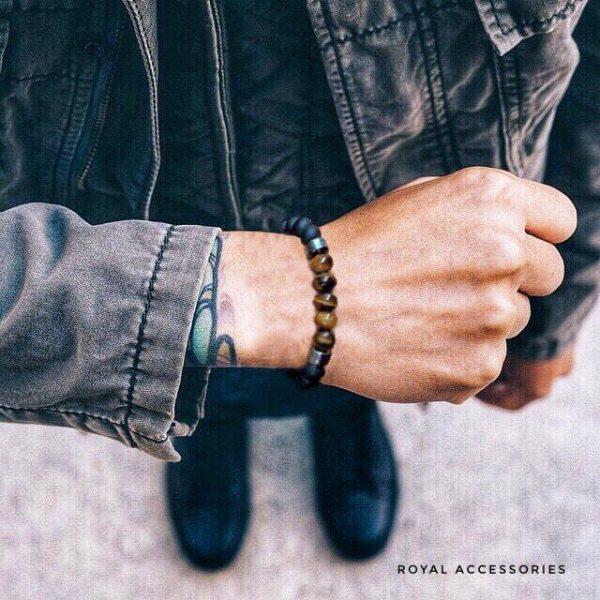 Мужские браслеты из камней с гематитом INSPIRE