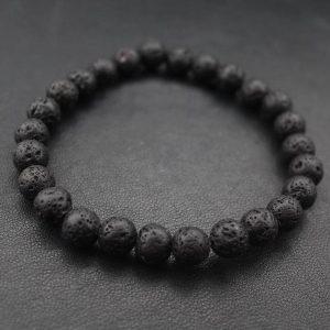 Мужские браслеты из камней с лавой «VOLCANIC || Lava»