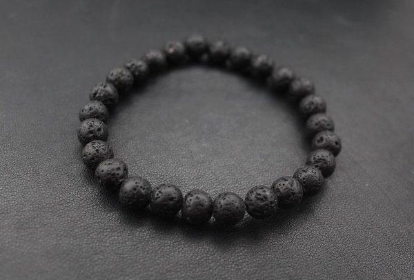 Мужские браслеты из камней с лавой VOLCANIC lava