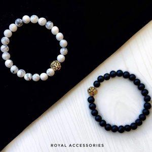 Мужские браслеты из камней с шунгитом «LION GOLD»