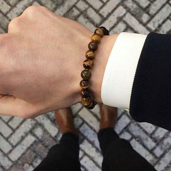 Мужские браслеты из камней с тигровым глазом EYE OF THE TIGER (1)
