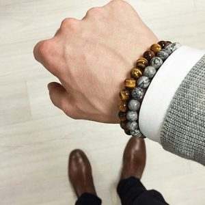 Мужские браслеты из натуральных камней «Eye Of The Tiger»