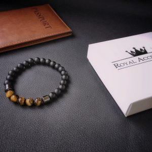 Мужские браслеты из натуральных камней «INSPIRE» с тигровым глазом
