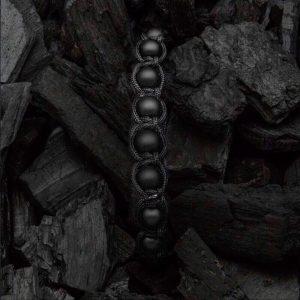 Мужские браслеты из натуральных камней шамбала SHAMBALLA BRUTAL MATTE 8mm плетеный (1)