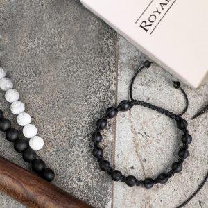 Мужские браслеты из натуральных камней шамбала «SHAMBALLA | BRUTAL MATTE 8mm» плетеный