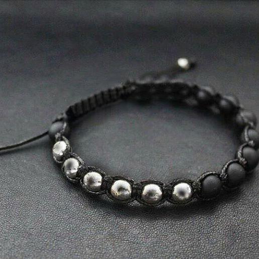 Мужские браслеты из натуральных камней шамбала Shambala HematiteGold
