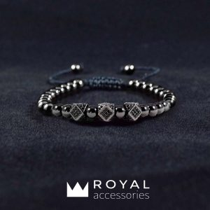 Мужские браслеты шамбала DOMINANCE CZ Black Hem (4)