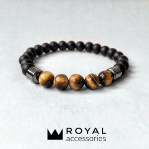 Мужские браслеты шамбала «INSPIRE» с темным гематитом