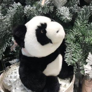 Интерьерная игрушка панда из меха 000.919