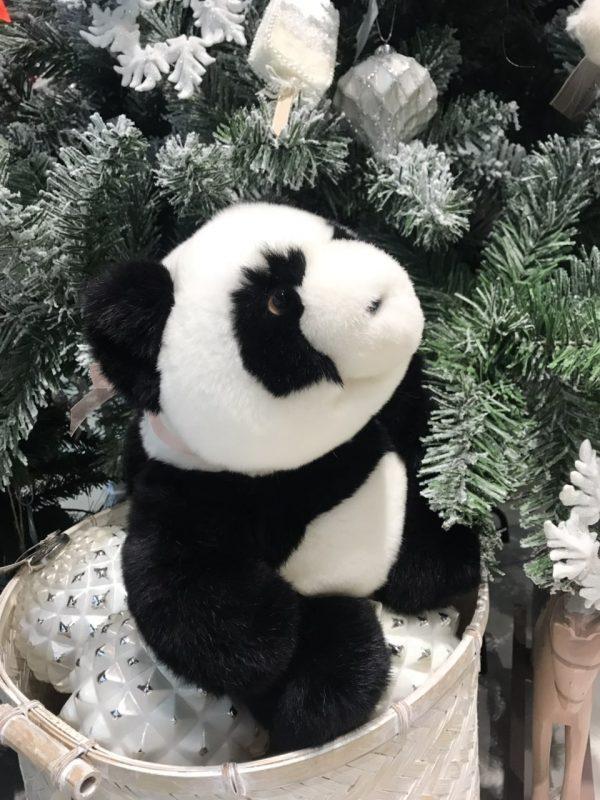 Интерьерная игрушка панда из меха 000.919 фото
