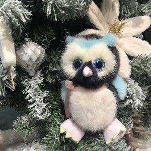 Интерьерная игрушка сова из меха 000.921