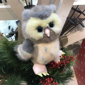 Интерьерная игрушка сова из меха 000.913