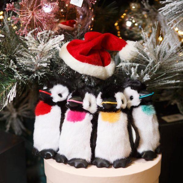 Интерьерная игрушка пингвин из меха 000.894 фото