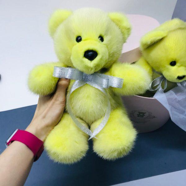 Интерьерная игрушка мишка желтый 000.890 фото